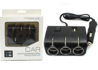 Car Adapter mechero 2 USB&Triple Socket