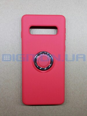 Silicone Cover for Samsung Galaxy S10 с кольцом