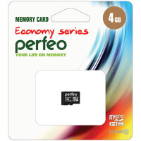 Карта памяти Perfeo microSD High-Capacity (Class 10) w/o Adapter economy series