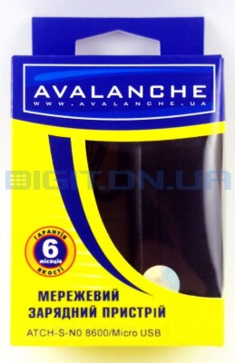 СЗУ Avalanche ATCH-S-NO.8600 0.8А microUSB